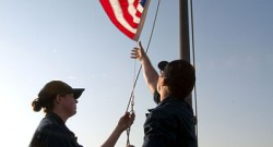 Lowering-The-American-Flag
