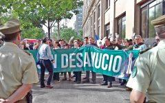 """Ex suboficial mayor en protesta de los Sin Desahucio: """"Este robo es paralelo al Pacogate"""""""